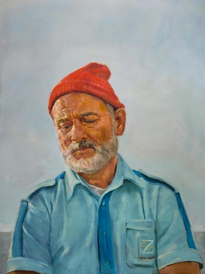 997515f8d00 Steve Zissou art print from oil painting The Life Aquatic