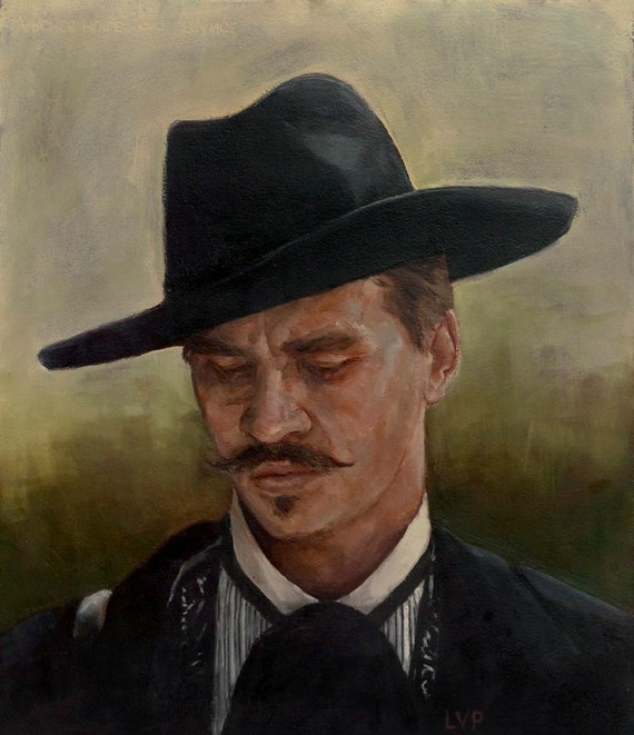 Doc Holliday oil painting, Tombstone