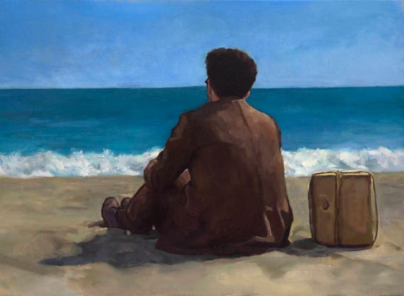 "Barton Fink, PRINT from oil painting - 8.5 x 11 "" - 11 x 17"" and 13 x 19 "" fine art prints"