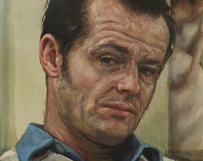 Jack Nicholson, Oil Painting inspired by film, One Flew Over the Cuckoo's Nest
