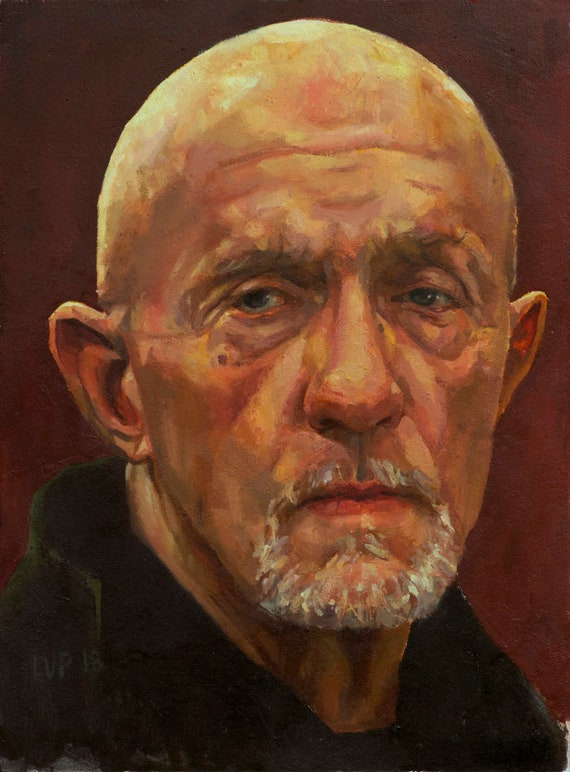 MIKE EHRMANTRAUT painting PRINT, 8x11 / 11x17in / 13x19in Breaking Bad, Better Call Saul