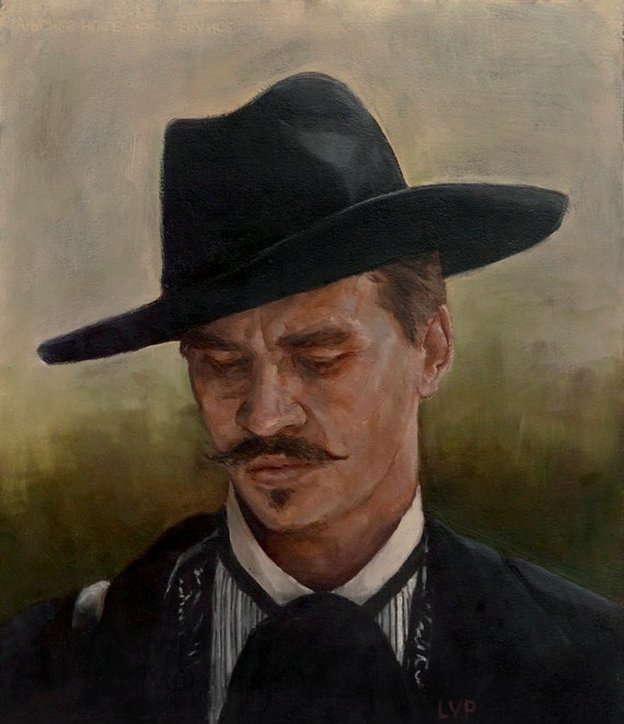 Doc Holliday ART PRINT from original oil painting TOMBSTONE 13x19in