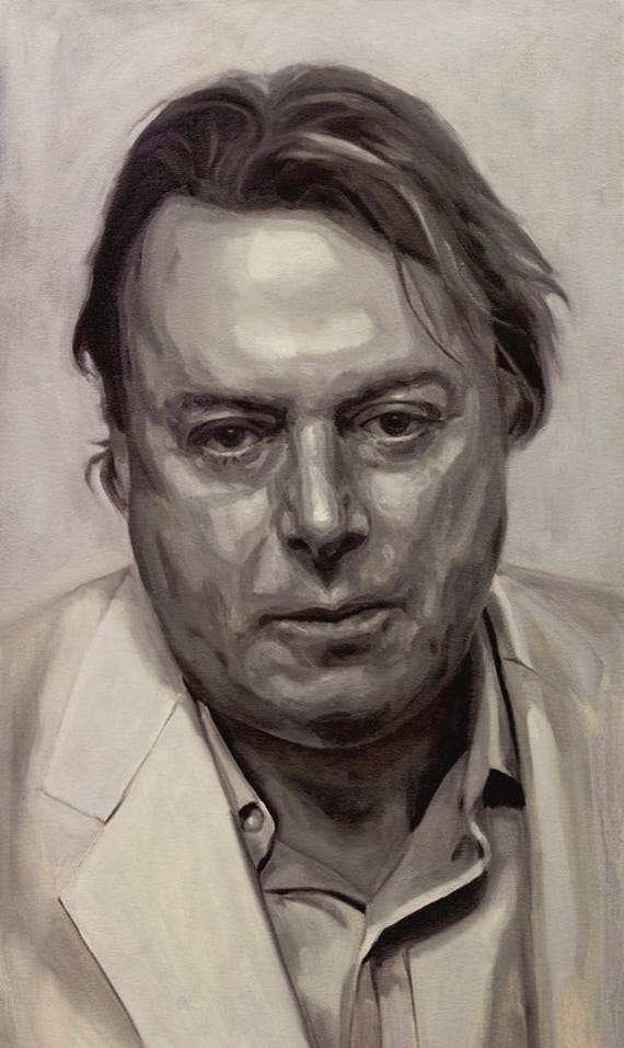 """Christopher Hitchens, PRINT from oil painting - 8.5 x 11 """" and 13 x 19 """" fine art prints"""