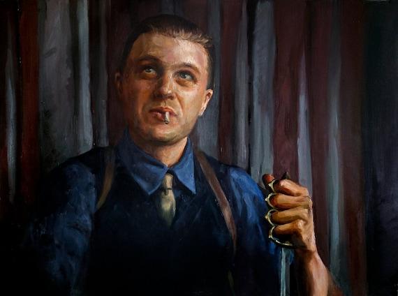 """Jimmy Darmody, PRINT from oil painting - 8.5x11"""" / 11x17"""" / 13x19""""  fine art prints Boardwalk Empire"""