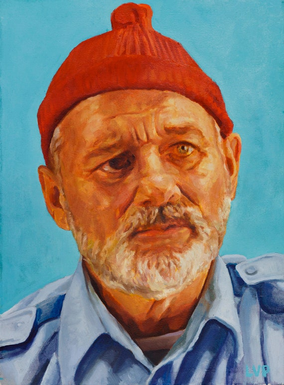 """Steve ZISSOU, PRINT from oil painting - 8.5 x 11 """" and 13 x 19 """" fine art prints, and new 11 x 17"""""""