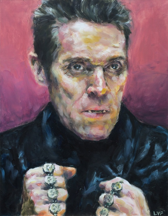 WILLEM DAFOE as Jopling, painting PRINT multiple sizes from original oil work