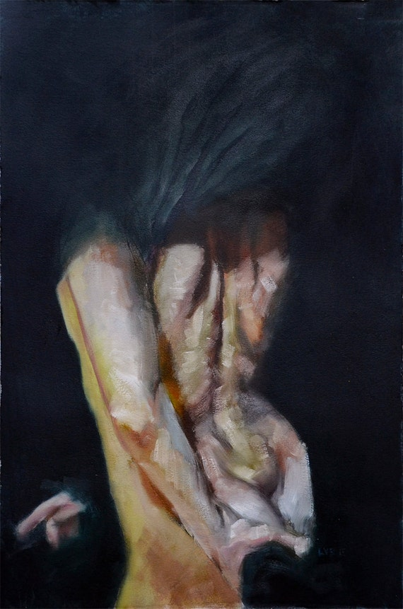 Shroud, Original Oil Painting