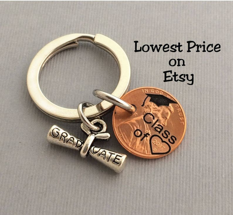 Graduation Gift  Class of  Graduation Keychain  Gift for image 0