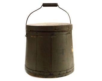 Antique Mince Meat Firkin - Primitive Shaker Firkin - Antique Primitive Kitchen Decor