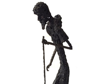1960s Brutalist Metal Sculpture Fine Art by Paul Meinberg /  Mid Century Brutalist Sculpture