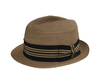 2bbc23a451c8a Dobbs Fifth Avenue Straw Fedora Size 7 1 8 Hat   Dobbs Summer Fedora    Straw Fedora   Dobbs Whipcord Straw Hat