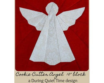 Cookie Cutter Angel Paper Pieced Pattern