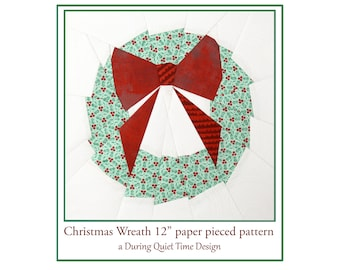 Christmas Wreath Paper Pieced Pattern