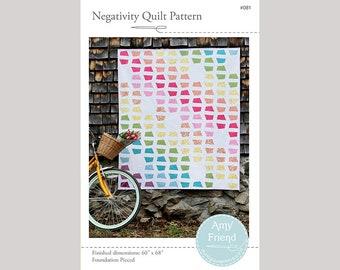 Negativity Quilt Pattern --Paper