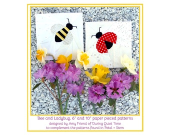 Bee and Ladybug Paper Pieced Patterns