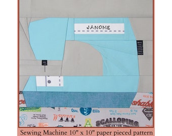 Sewing Machine Paper Pieced Pattern