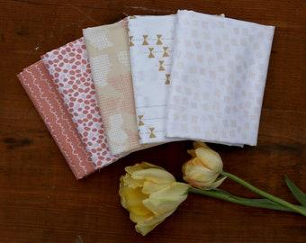 Improv Fabric Bundle of 5 Half Yard Cuts
