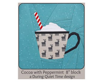 Cocoa with Peppermint Paper Pieced Pattern