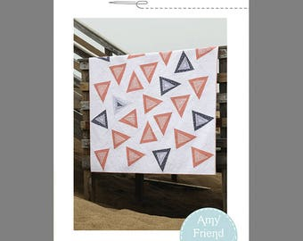 Triangle Toss Quilt Pattern --PDF
