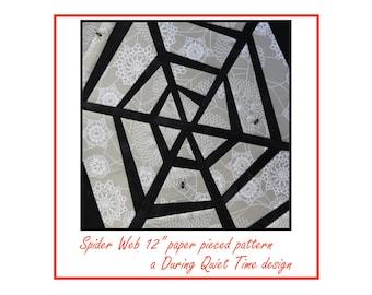 Spider Web Paper Pieced Pattern