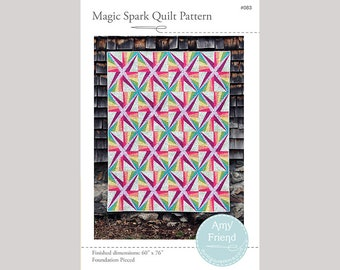 Magic Spark Quilt Pattern --Paper