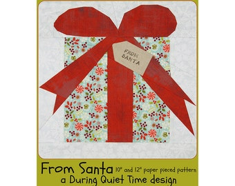 From Santa Paper Pieced Pattern