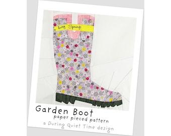 Garden Boot Paper Pieced Pattern