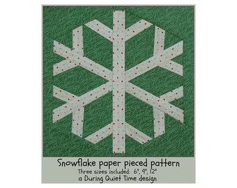 Snowflake Paper Pieced Pattern