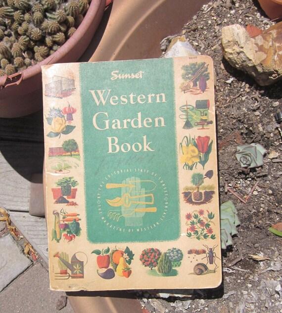 1954 Sunset Western Garden Book by Sunset Magazine Western   Etsy