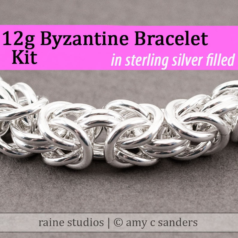 Out of Town 7/23-8/7 2019: 12g Byzantine Bracelet Chainmaille Kit in Silver  Fill