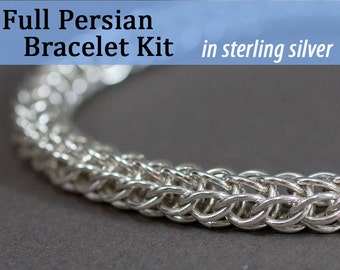 Full Persian Chainmaille Bracelet Kit in Sterling Silver