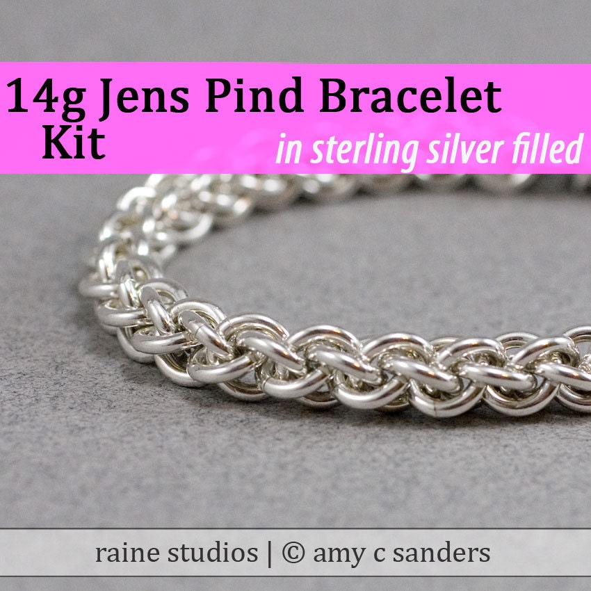 Remplir de Kit Chainmaille Jens Pind Bracelet en argent argent argent 14g 3a1b9a
