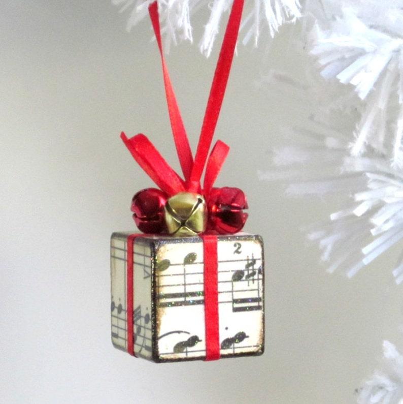 Small Christmas Tree Ornament Red Sheet Music Christmas | Etsy