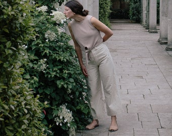 Persephone Pants in Light Cream - Made to order