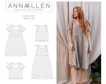 Demeter Dress + Top - PDF Sewing Pattern Sizes 00-22