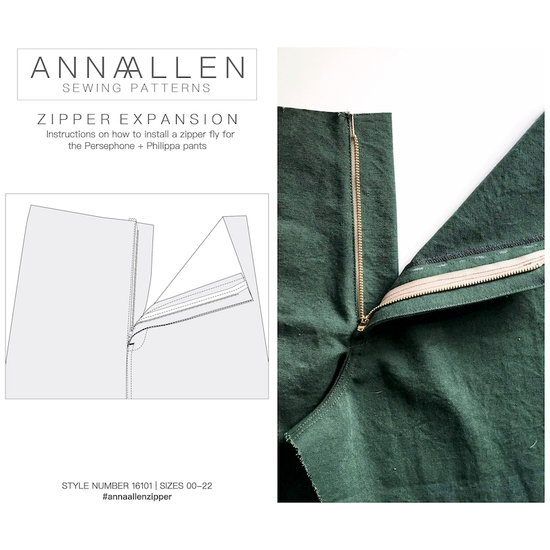 Zipper Expansion  PDF Sewing Instructions image 0