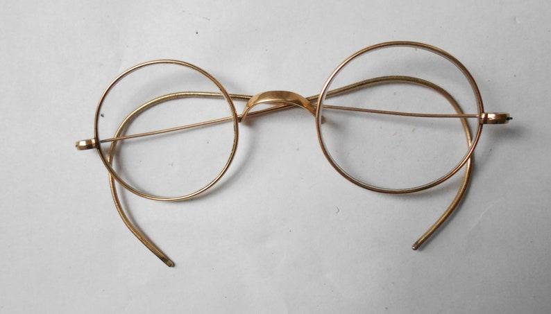 254865549b2a SOLID 10K Gold Antique Wire Rim John Lennon-Windsor Style Eye