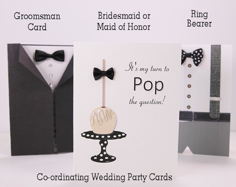vanilla cake pop shabby chic wedding Bridesmaid proposal Will You Be My personalized wedding Bridesmaid invite wedding party