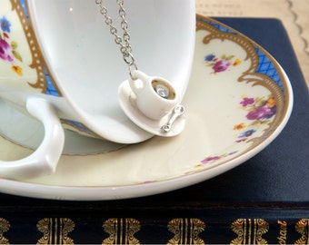 Coffee Cup Necklace - Coffee Lovers Gift - Coffee Jewellery