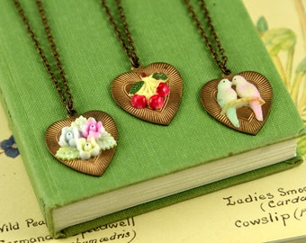 Copper Anniversary Gift for Her - Copper Heart Necklace - Reworked Vintage Jewellery