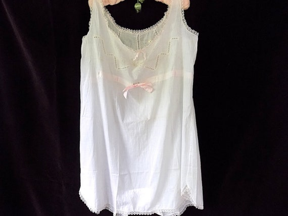 1920s 1930s French-American Step-In Chemise / Comb