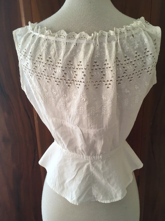 Rare vintage antique embroidered camisole/ victori