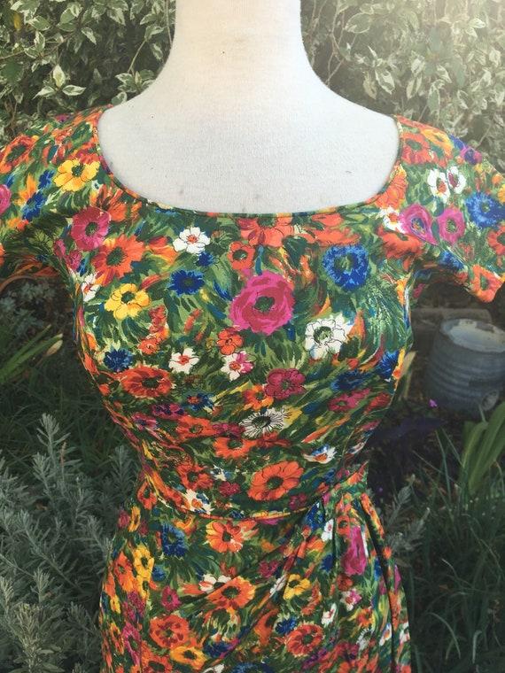 Vintage 1940s 1950s Tori Richard honolulu floral c