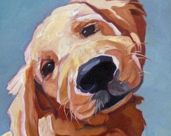 Golden Retriever Puppy Portrait Print