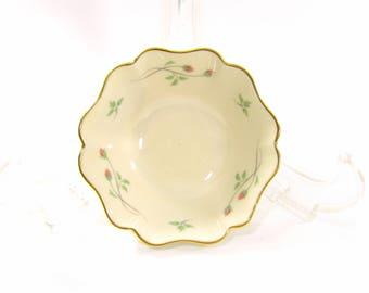 Vintage Lenox Rose Manor Jewelry Dish - Lenox Porcelain Rose Manor Dish - Lenox China Gold & Pink Roses Dish - Lenox Jewelry Dish