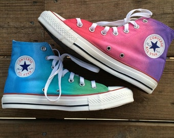 62dcc8429218 Tie Dye Pastel Custom Converse High Top Shoes