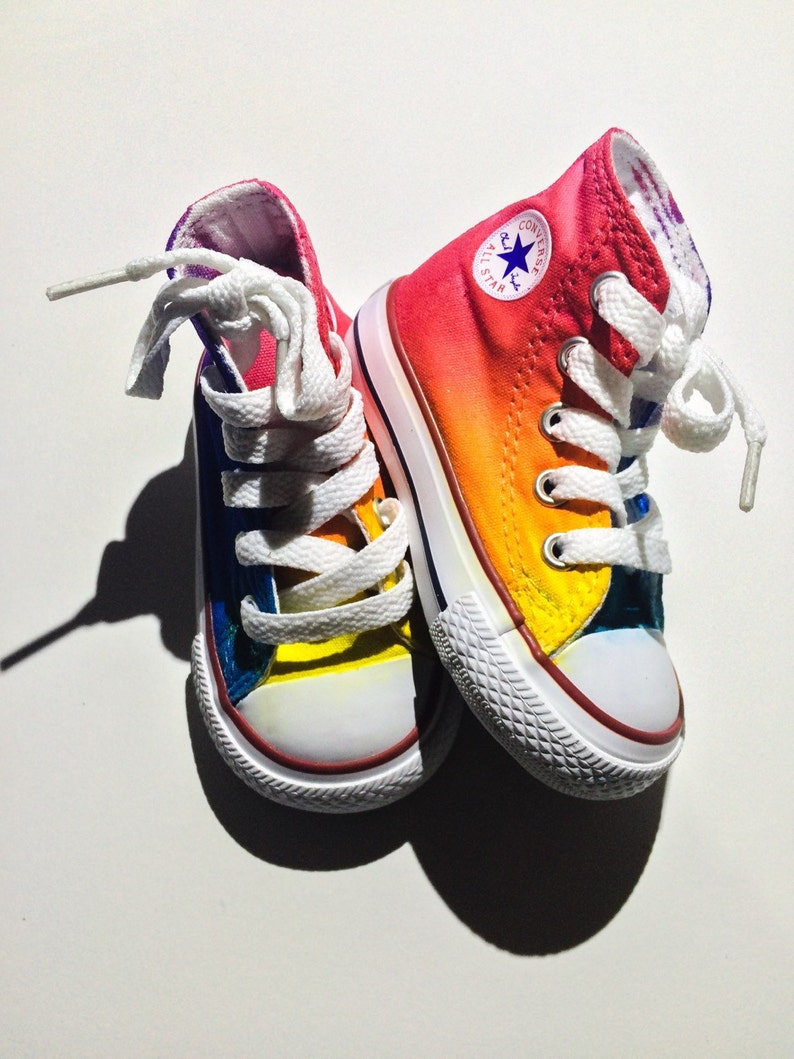 Baby and Toddler Rainbow Converse Tie Dye High Tops  26399dcc8
