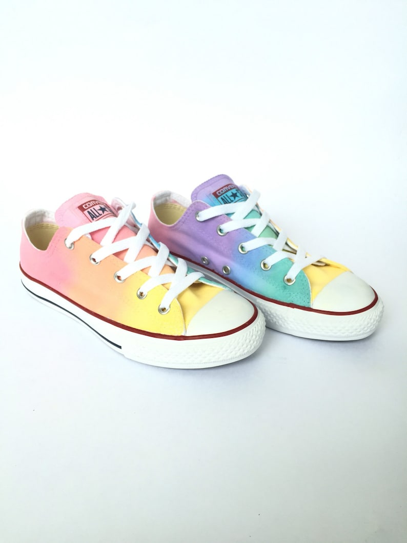 75ad0d492318 Baby   Toddler Pastel Rainbow Low Top Custom Converse Shoes