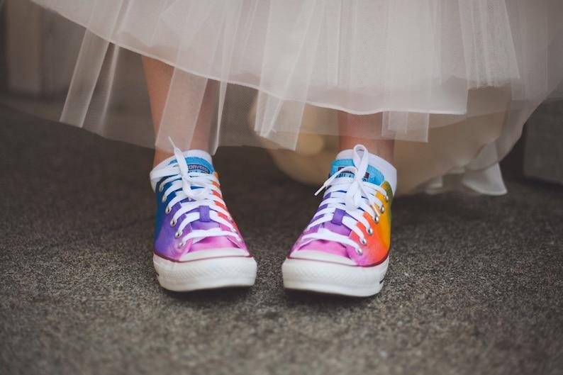 Custom Rainbow Converse As Seen on Talk Stoop