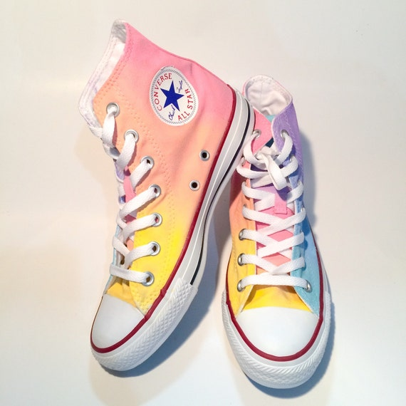 553cb8badb25 Ombre Pastel High Top Custom Converse